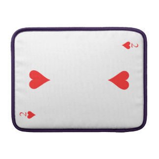 Two of Hearts MacBook Sleeves