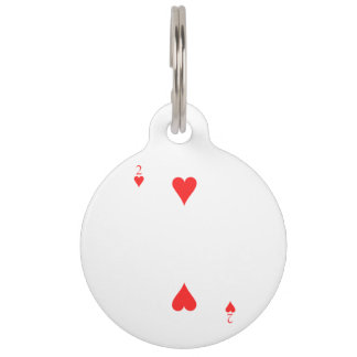 Two of Hearts Pet ID Tag
