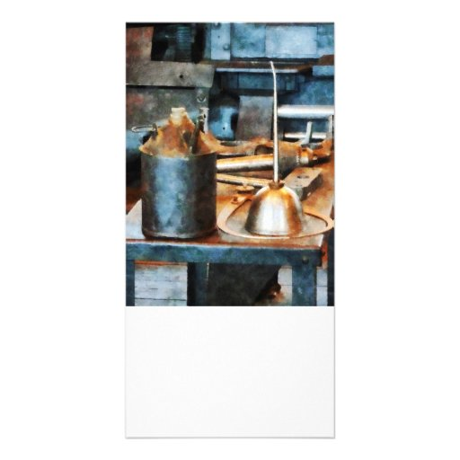 Two Oil Cans Custom Photo Card