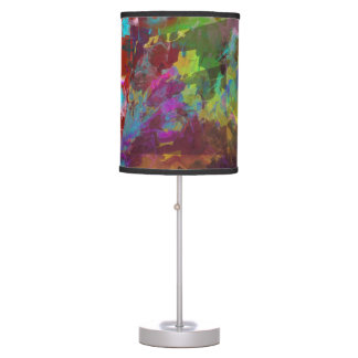 Two on One Vibrant Abstract Colors II Table Lamp