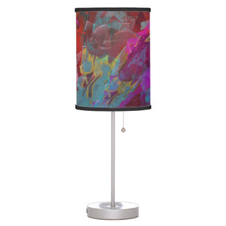 Two on One Vibrant Abstract Colors Table Lamp