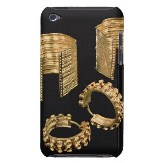 Two open facetted bracelets and a pair of earrings Case-Mate iPod touch case