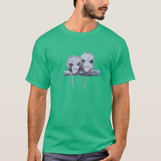 """Two Opossums"" Men's Colored Tee"