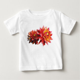 Two Orange Dahlias Infants Baby T-Shirt