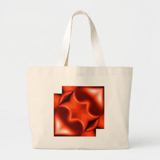 Two Orange Hearts Large Tote Bag