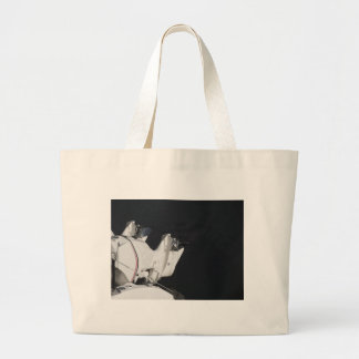 Two outboard boat motors large tote bag