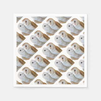 two owls friends paper napkin