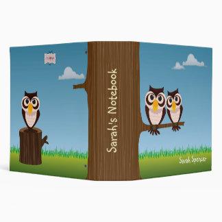 Two Owls Kids Binder