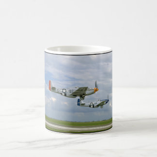 Two P51 Mustangs Flying By._WWII Planes Coffee Mug