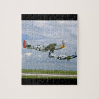Two P51 Mustangs Flying By._WWII Planes Puzzle