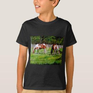 Two Paint Horses grazing Tshirt