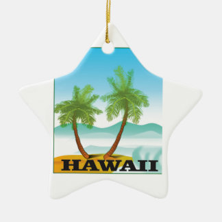 two palms of hawaii ceramic ornament