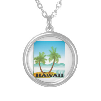 two palms of hawaii silver plated necklace