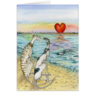 """""""Two paper boats"""" Card"""