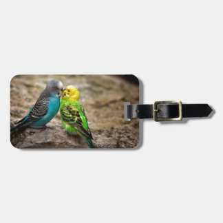 Two Parakeets Luggage Tag