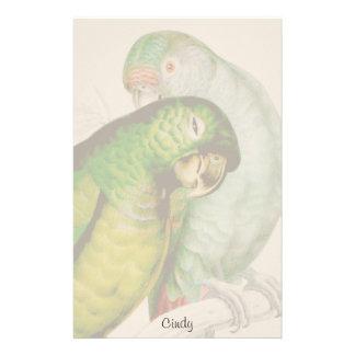 Two Parrot Birds Wildlife Animal Stationery