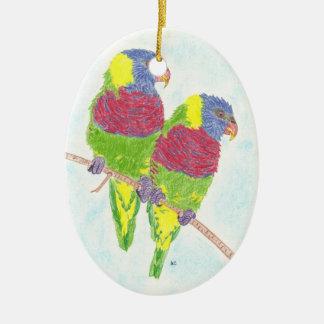 Two parrots ornament