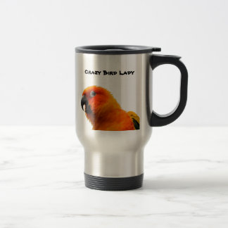 Two Parrots Stainless Steel 15 oz Travel Mug