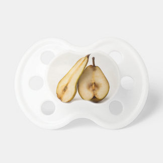 Two pear halves - My Sweet And Perfect Half Baby Pacifier