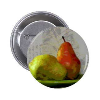 TWO PEARS 2 INCH ROUND BUTTON