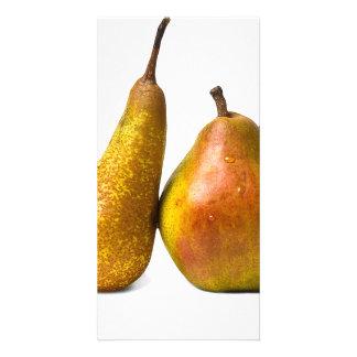 Two pears custom photo card