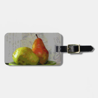 TWO PEARS LUGGAGE TAG
