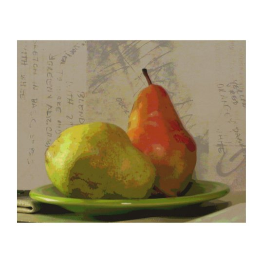 TWO PEARS WOOD WALL DECOR