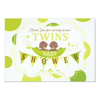 Two Peas in a Pod African Twins Thank You Card