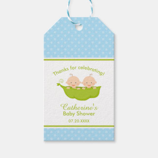 Two Peas in  a Pod, Blue Twins Pack Of Gift Tags