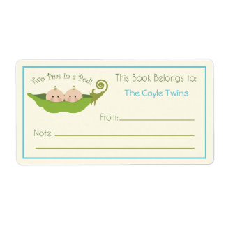 Two Peas In A Pod  |  Bookplate Shipping Label