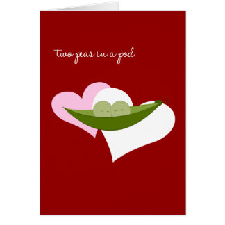 Two Peas in a Pod Card