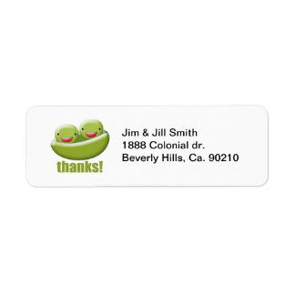 Two Peas In A Pod Give Thanks Return Address Label