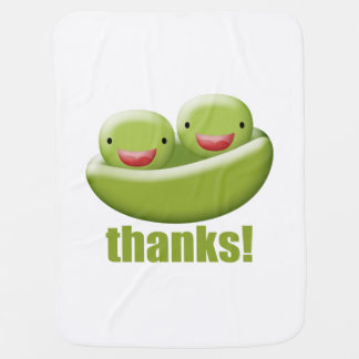 Two Peas In A Pod Give Thanks Swaddle Blankets