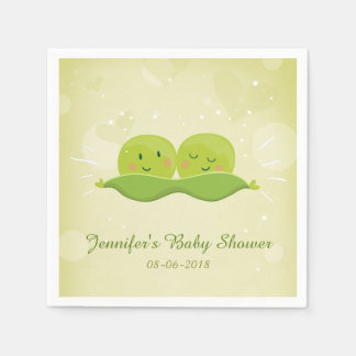 Two peas in a pod Paper Napkin Twins Baby shower