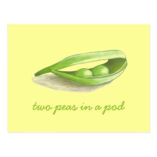 Two Peas in a Pod - save the date Postcard