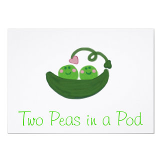 Two Peas in  Pod Invitations