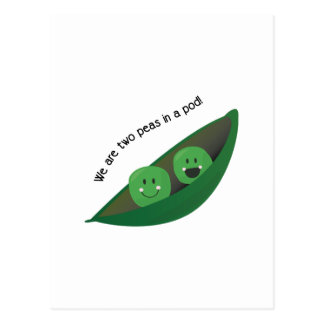 Two Peas in Pod Postcard