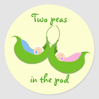 """Two Peas in the Pod"" Stickers"