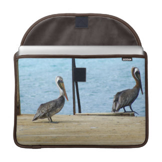 """Two pelicans on the pier, Curacao, Caribbean, 15"""" Sleeves For MacBooks"""