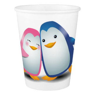 Two Penguins Paper Cup