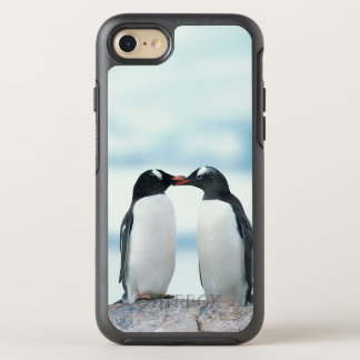 Two Penguins touching beaks OtterBox Symmetry iPhone 8/7 Case