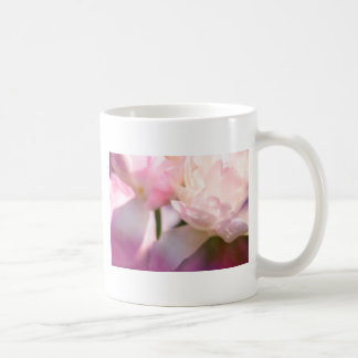 Two Peony Flowering Tulips with Petals Touching Coffee Mug