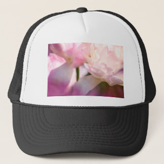 Two Peony Flowering Tulips with Petals Touching Trucker Hat