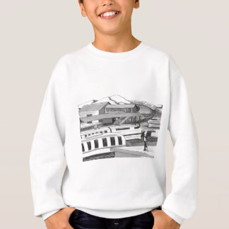 Two People trying to Catch Trains Sweatshirt