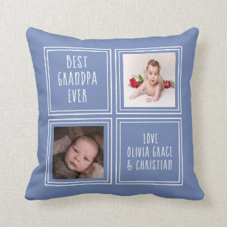 Two Photo Template Personalized One of a Kind Throw Pillow