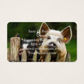 Two pigs - pig farm - pork farms business card
