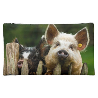 Two pigs - pig farm - pork farms cosmetic bag