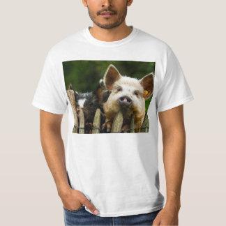 Two pigs - pig farm - pork farms T-Shirt