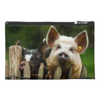 Two pigs - pig farm - pork farms travel accessory bag