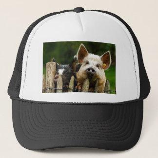 Two pigs - pig farm - pork farms trucker hat